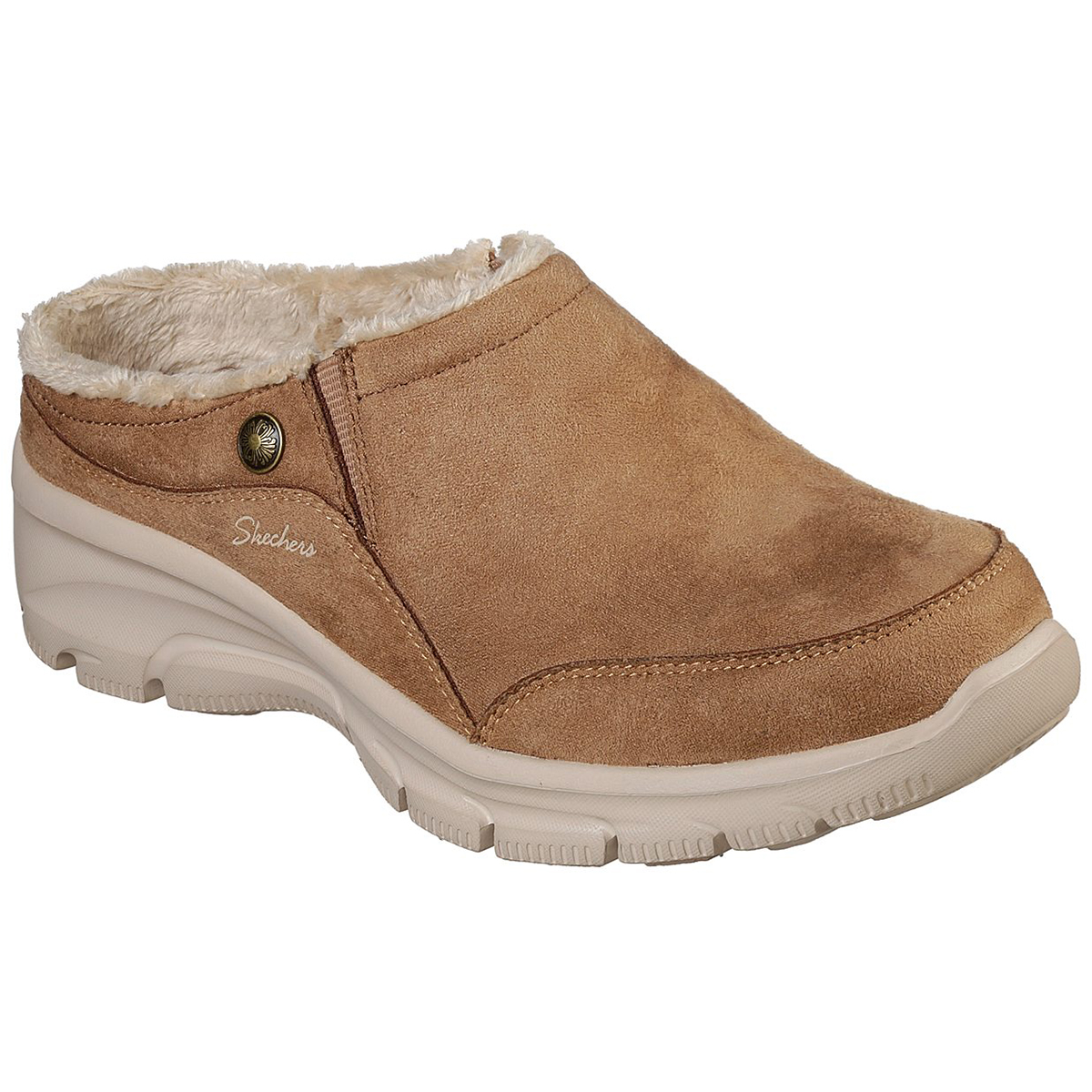 """Skechers Women's Relaxed Fit: Easy Going A """" Latte Mules - Brown, 7"""