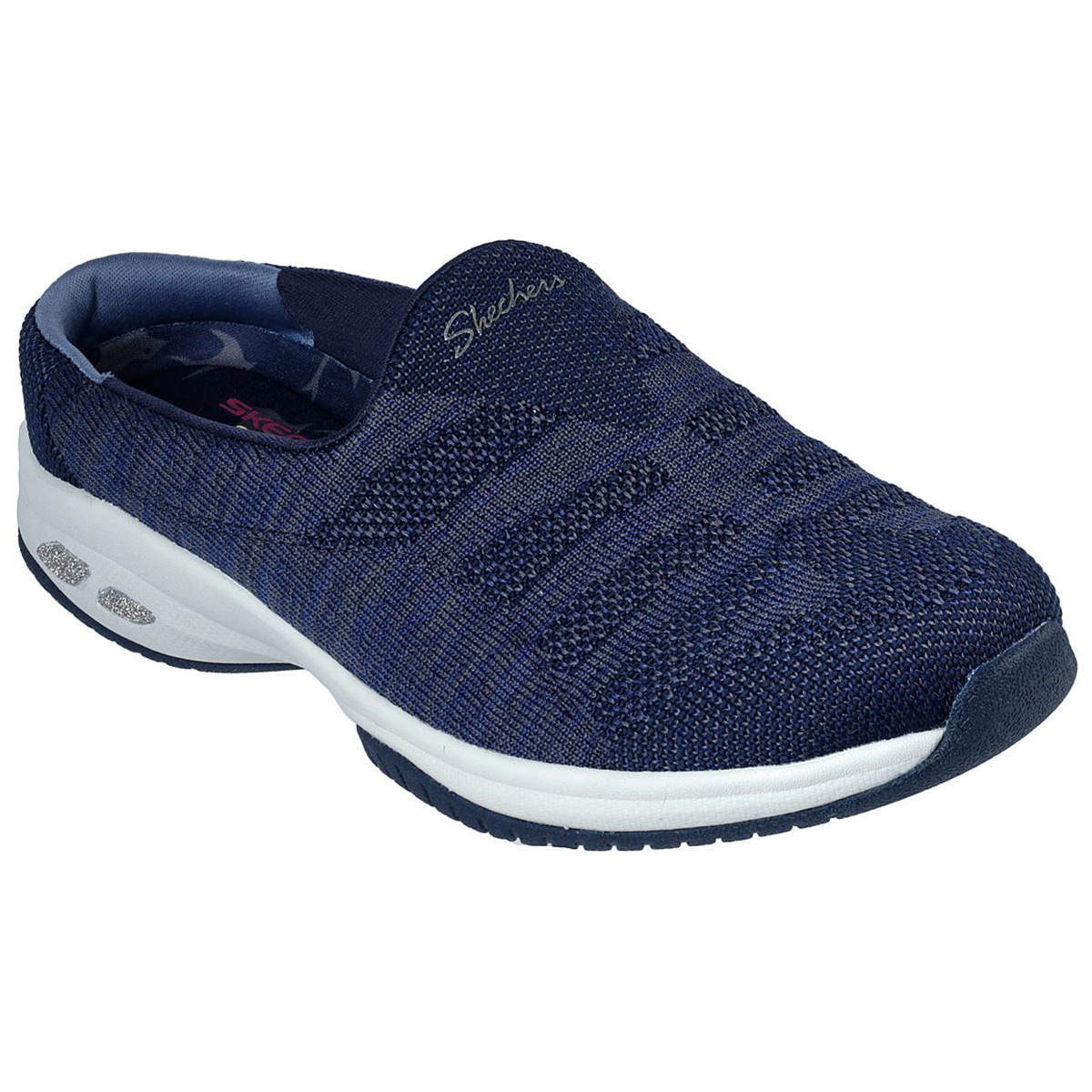 Skechers Women's Commute Knitastic Clog Seakers - Blue, 7.5