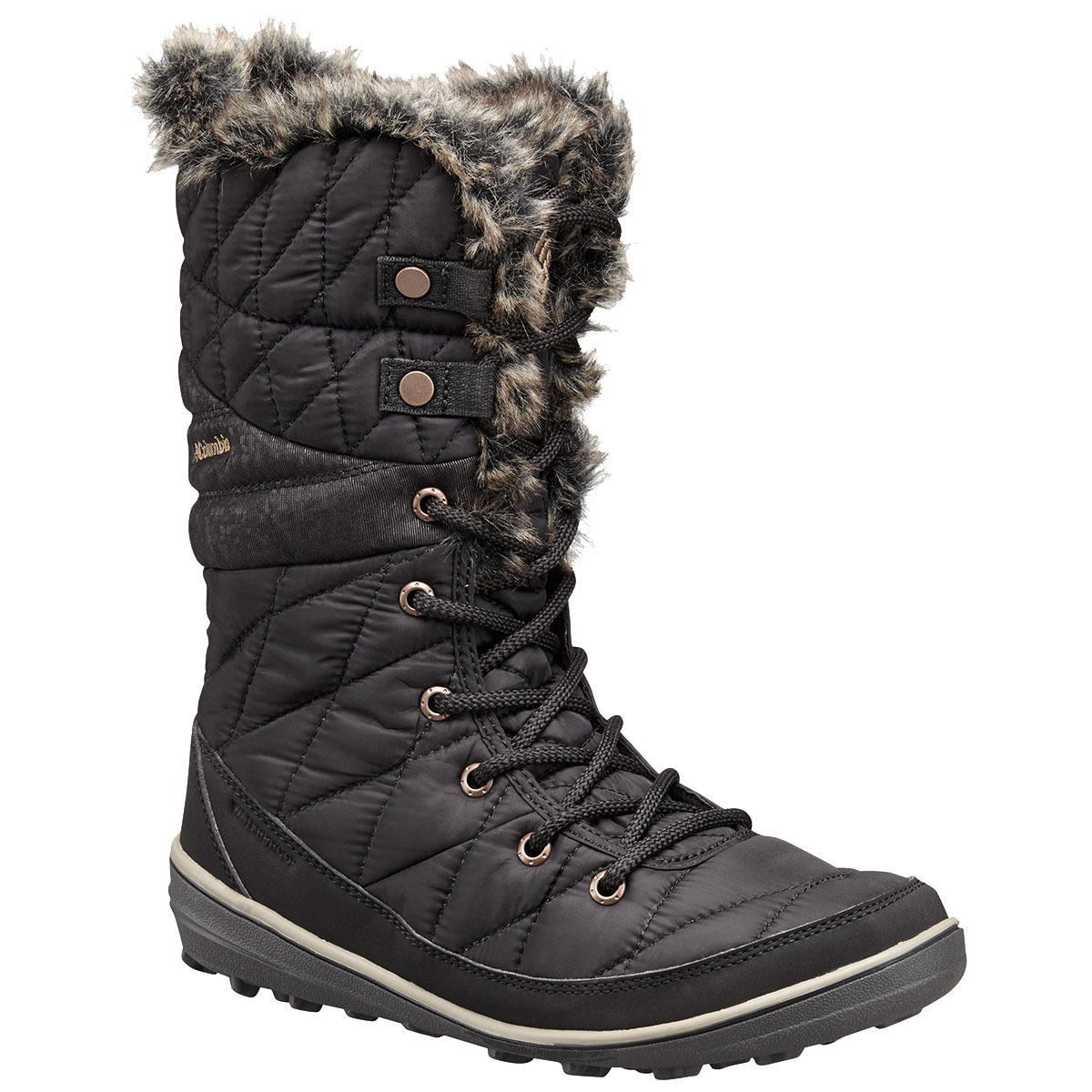 Columbia Women's Heavenly Omni-Heat Lace-Up Insulated Waterproof Storm Boots - Black, 10