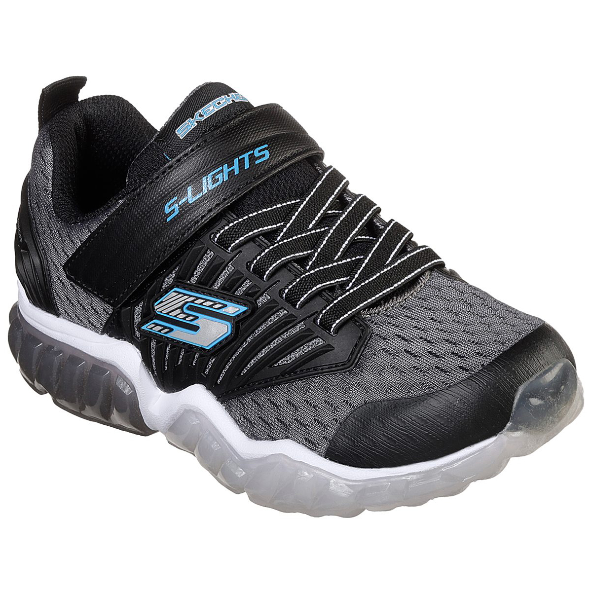 Skechers Boys' S Lights: Rapid Flash Sneakers - Black, 11