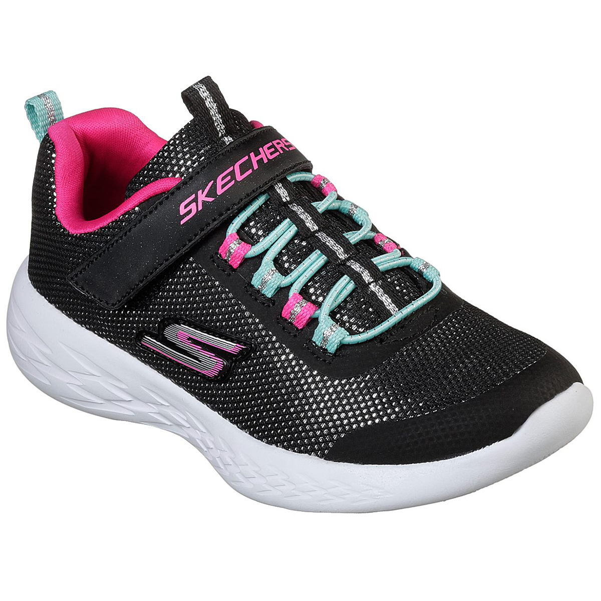 Skechers Little Girls' Gorun 600 - Sparkle Runner Sneakers - Black, 1.5