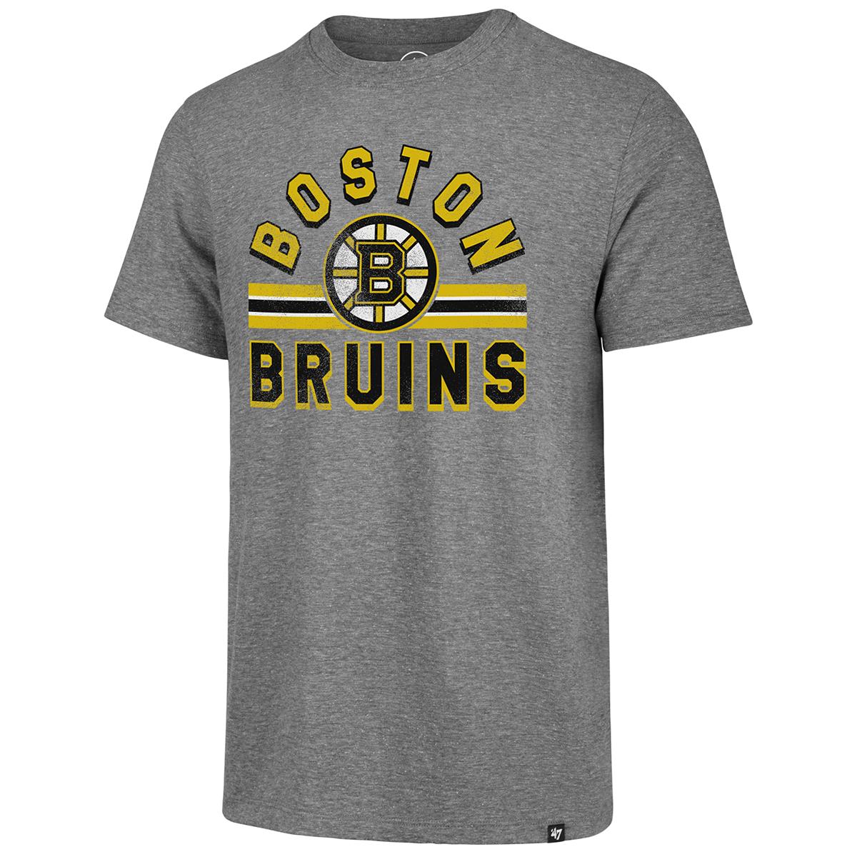 Boston Bruins Men's Team Stripe '47 Match Short-Sleeve Tee - Black, XL