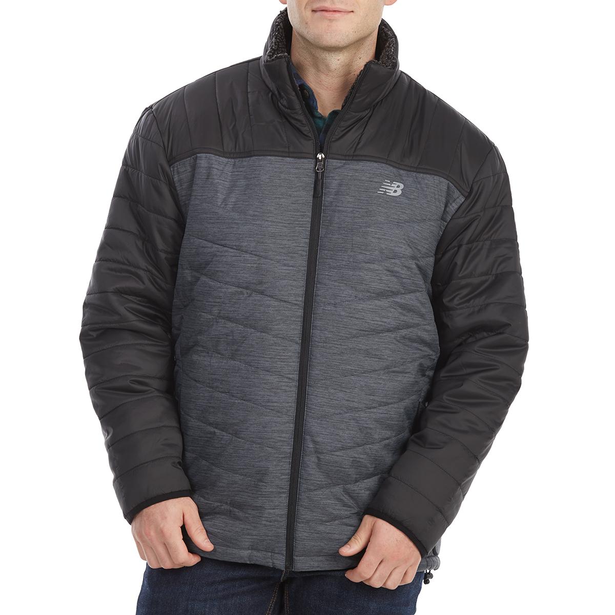 New Balance Men's Sherpa-Lined Puffer Jacket - Black, XXL
