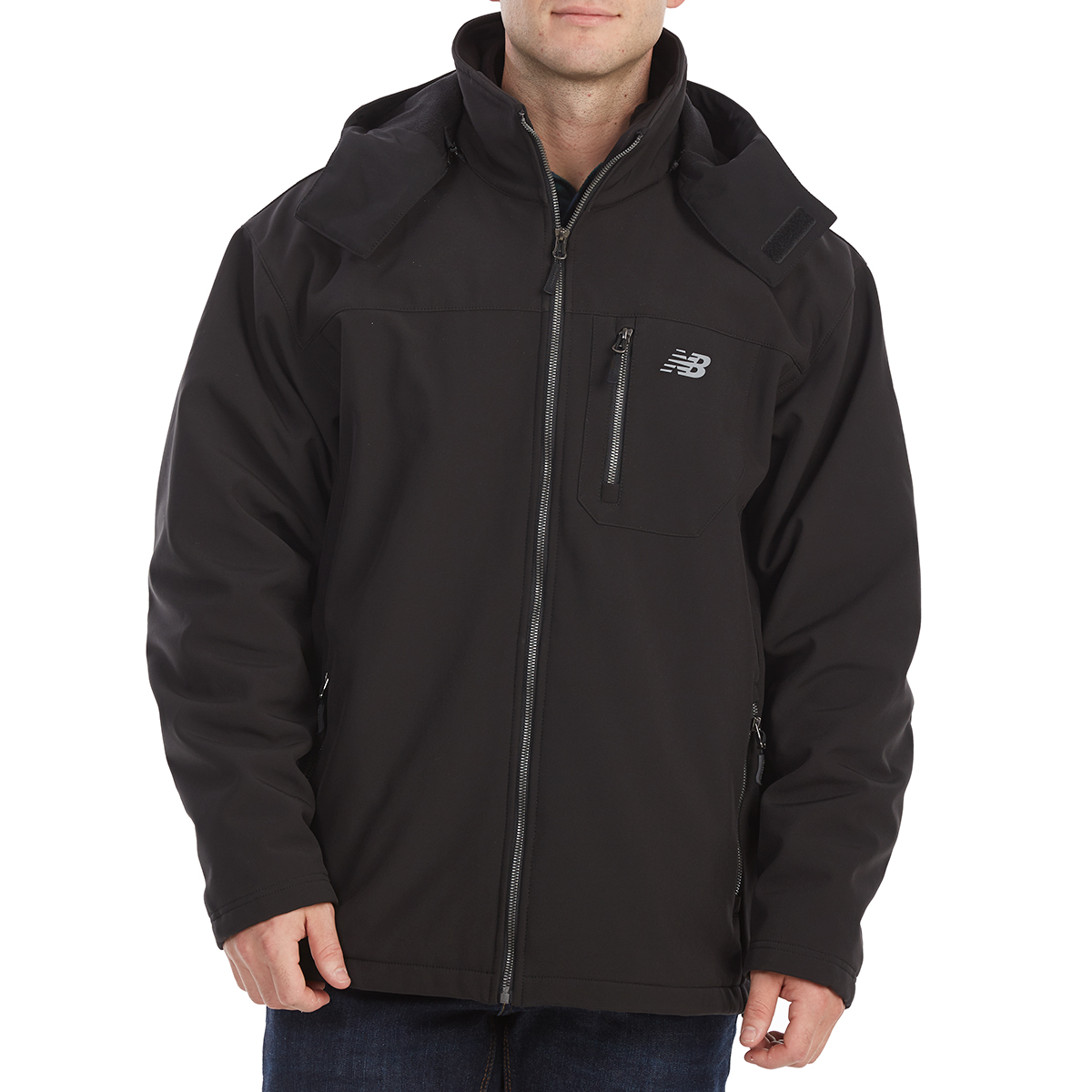 New Balance Men's Soft Shell Systems Jacket With Zip-Out Puffer - Black, L
