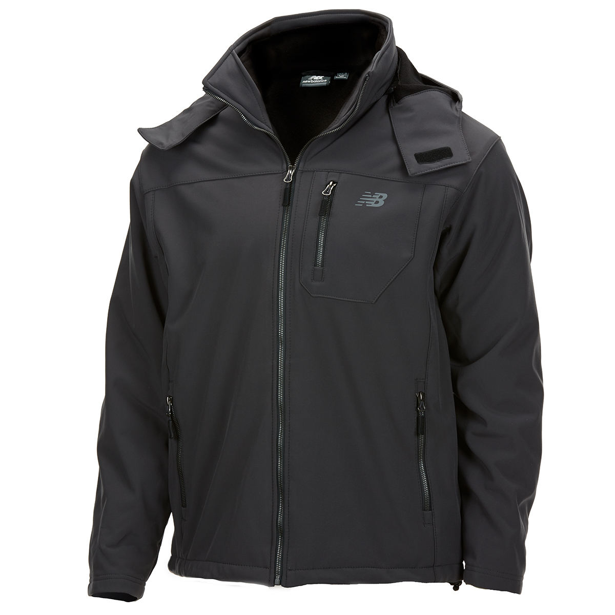 New Balance Men's Soft Shell Systems Jacket With Zip-Out Puffer - Black, XXL