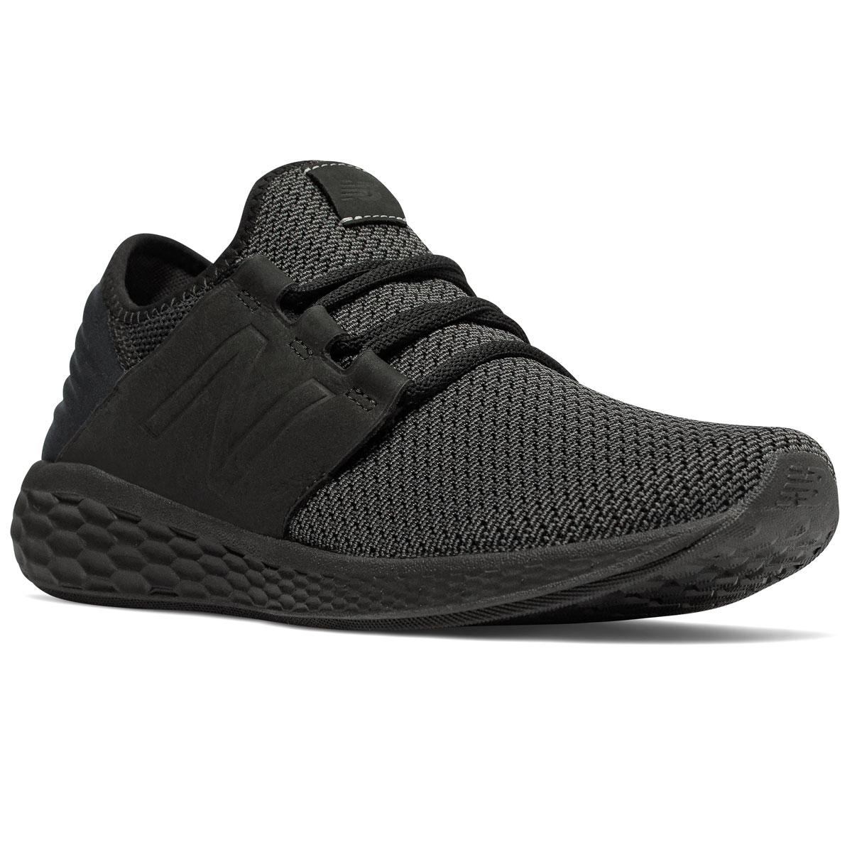 New Balance Men's Fresh Foam Cruz V2 Nubuck Running Shoes - Black, 12