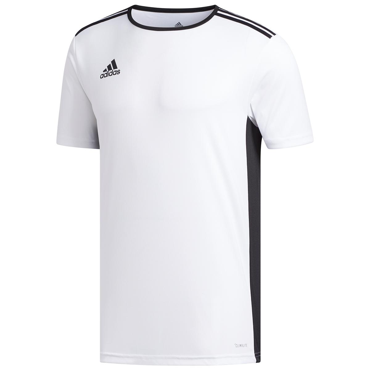 Adidas Men's Entrada 18 Soccer Jersey - White, XXL