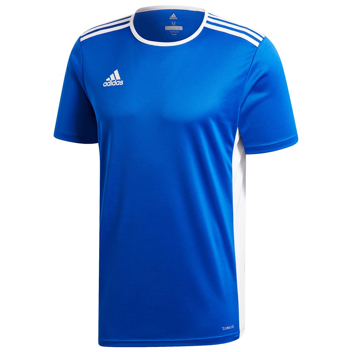 Adidas Men's Entrada 18 Soccer Jersey - Blue, XL