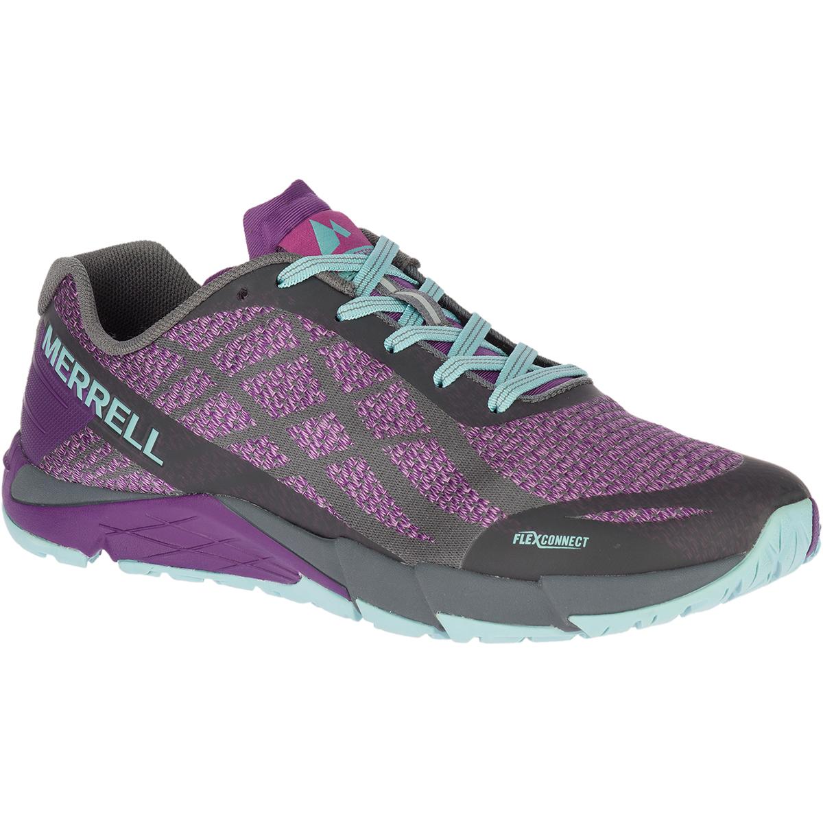 Merrell Women's Bare Access Flex Shield Trail Running Shoes - Purple, 10