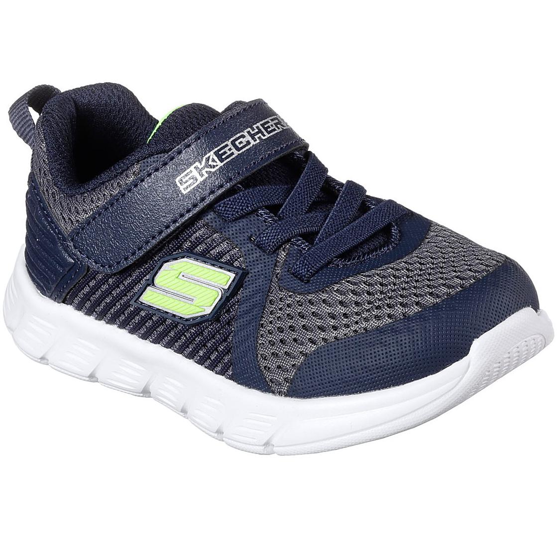 "Skechers Boys' Comfy Flex A "" Hyper Stride Sneakers - Blue, 10"