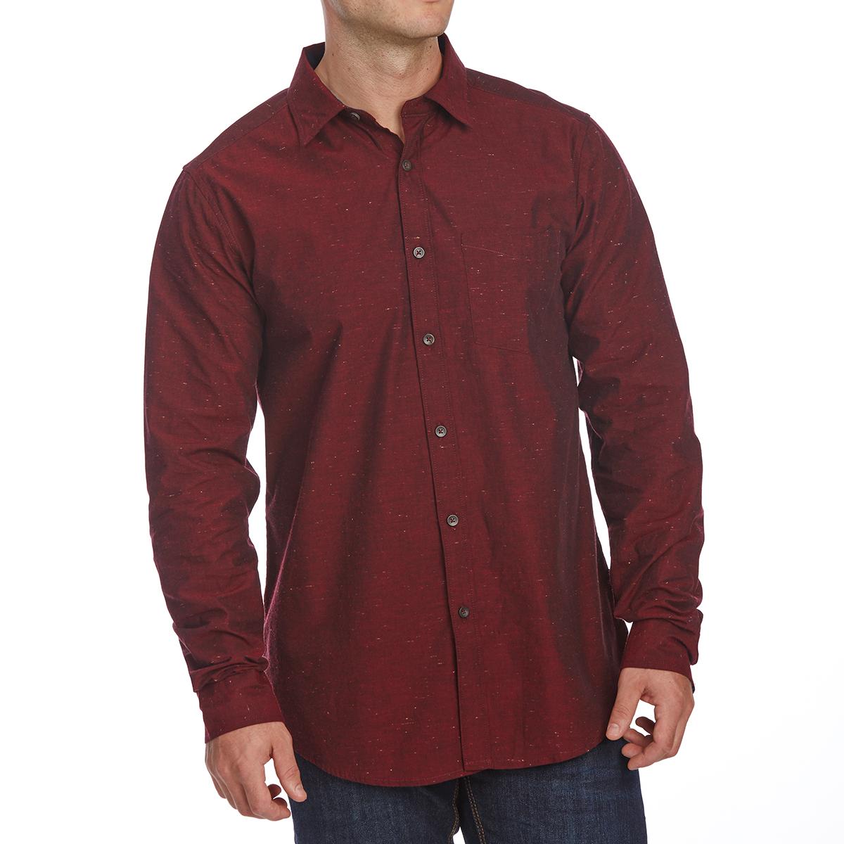 Ocean Current Guys' Standard Woven Long-Sleeve Shirt - Red, XL