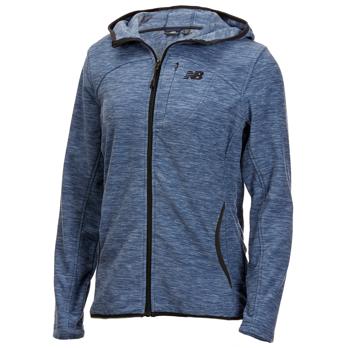 New Balance Women's Polar Fleece Space-Dye Full-Zip Hoodie - Blue, M
