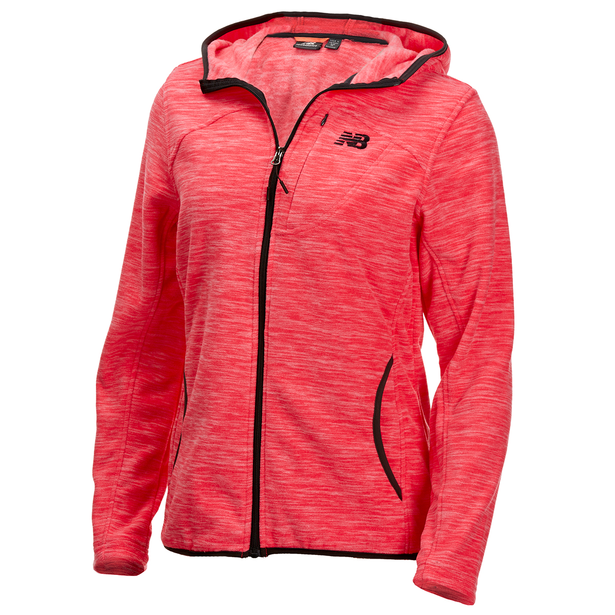 New Balance Women's Polar Fleece Space-Dye Full-Zip Hoodie - Red, XL