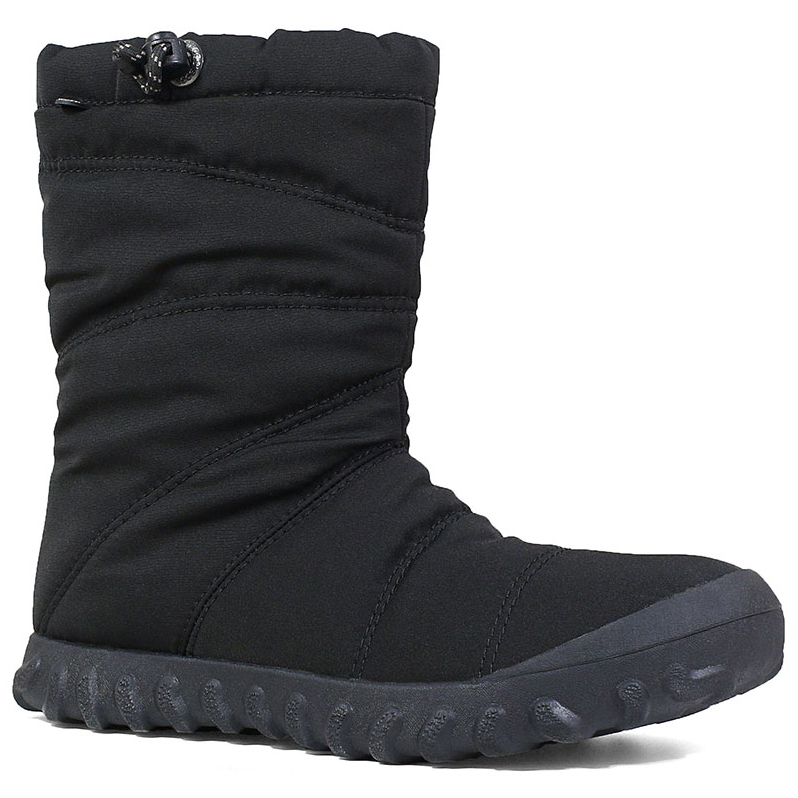 Bogs Women's 9 In. B Puffy Waterproof Insulated Mid Storm Boots - Black, 7