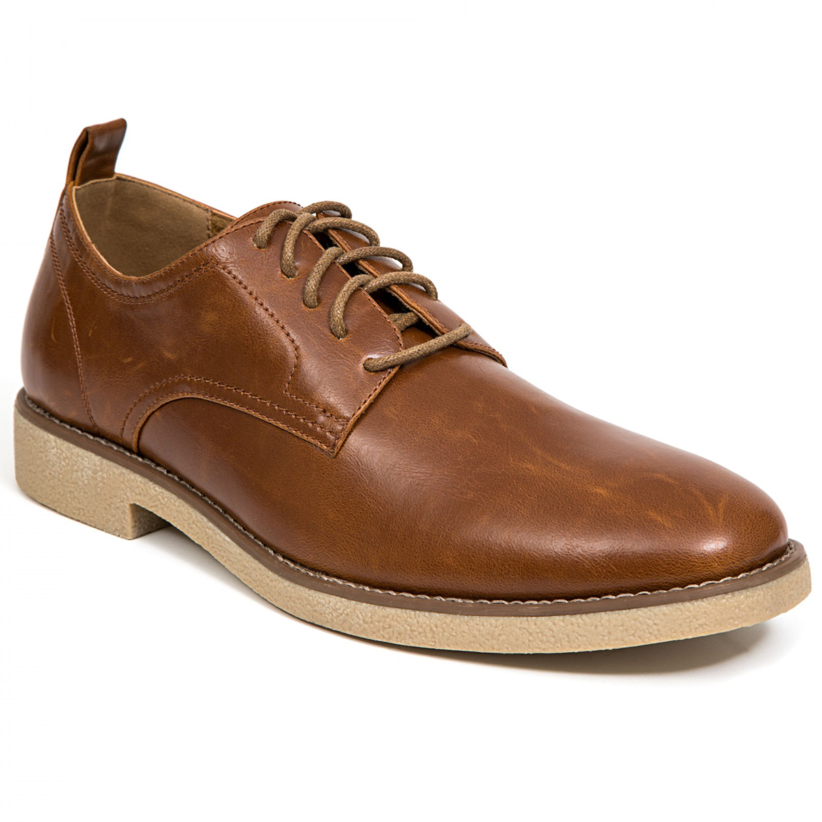Deer Stags Men's Highland Lace-Up Oxford Dress Shoes - Brown, 12