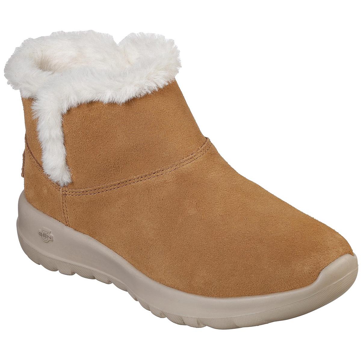 Skechers Women's On The Go Joy - Bundle Up Boots - Brown, 8.5