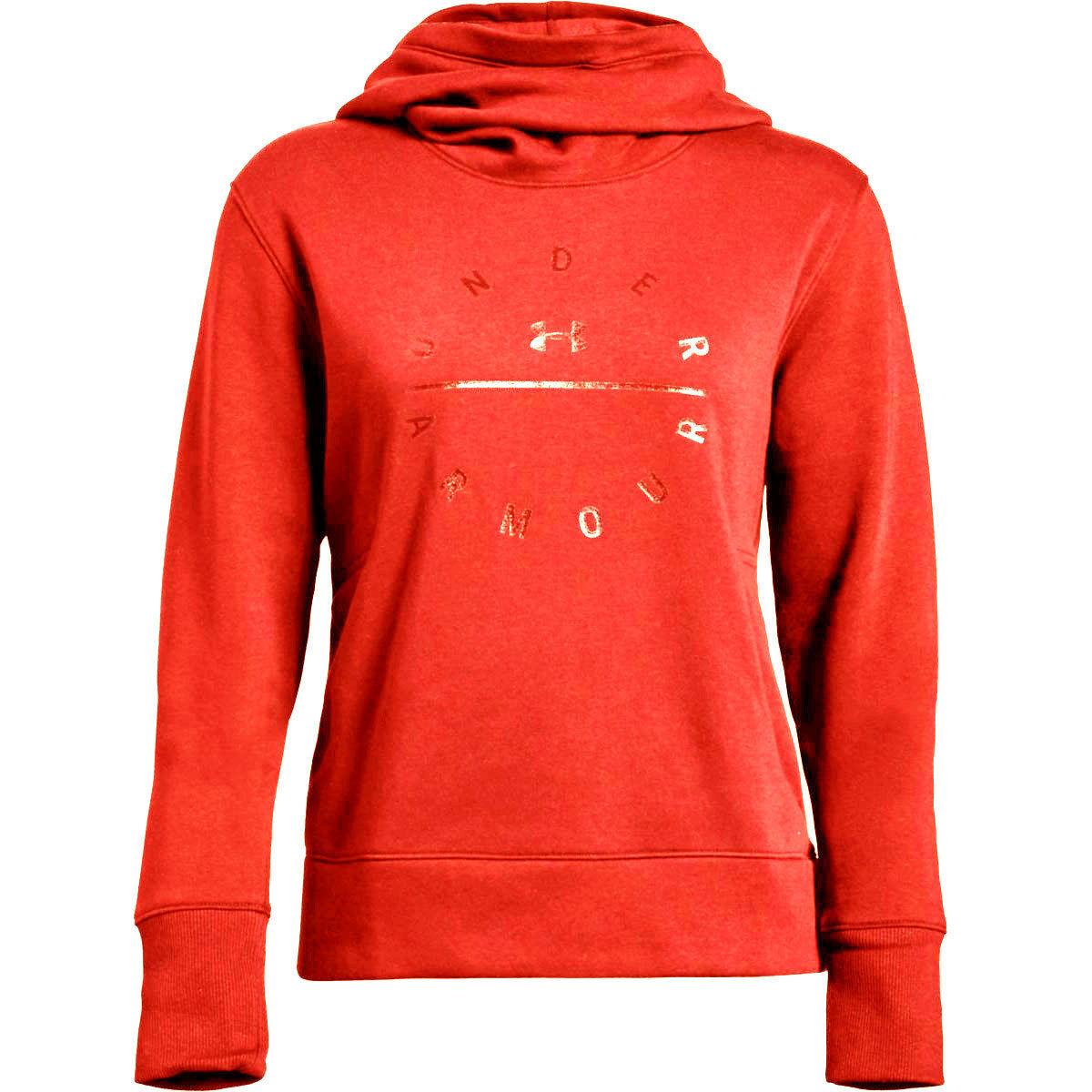 Under Armour Women's Ua Rival Fleece Tonal Graphic Pullover Hoodie - Orange, XL