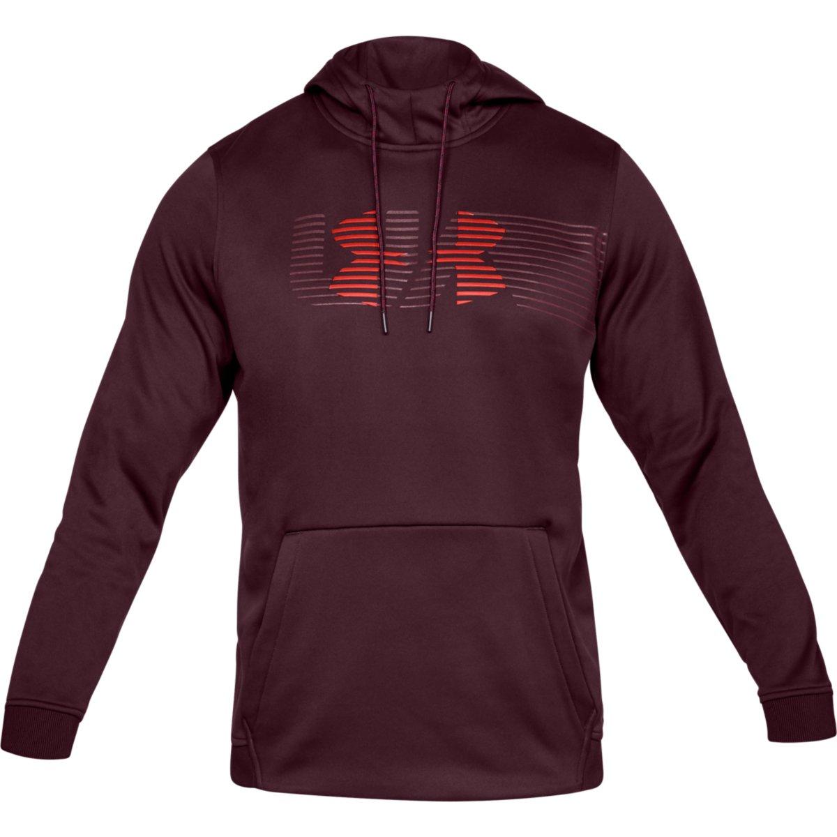 Under Armour Men's Armour Fleece Spectrum Pullover Hoodie - Red, XXL