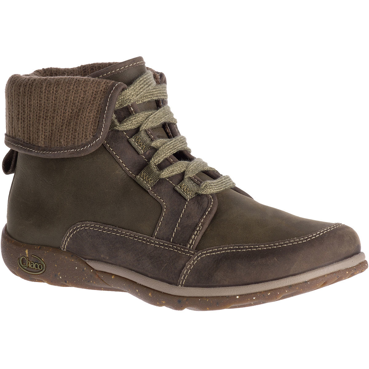 Chaco Women's Barbary Waterproof Fold-Down Storm Boots - Green, 8.5
