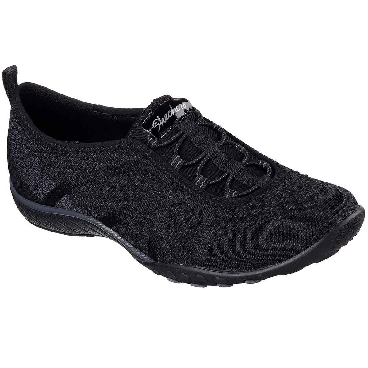 Skechers Women's Relaxed Fit: Breathe Easy - Fortune-Knit Sneakers - Black, 8