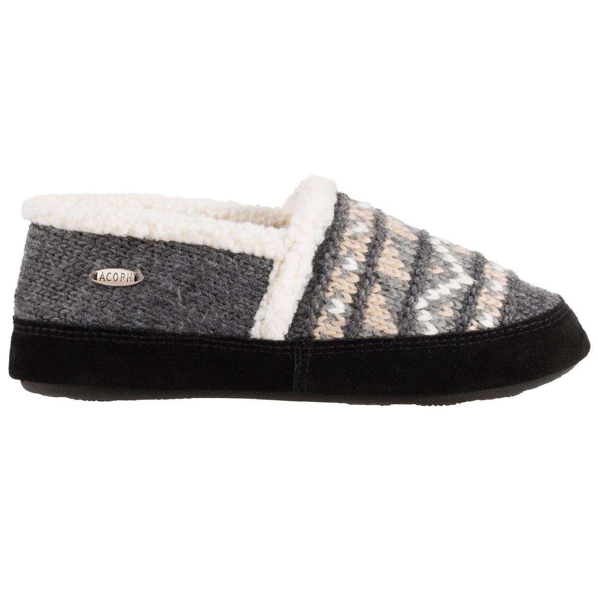 Acorn Women's Nordic Moc Slippers - Black, L