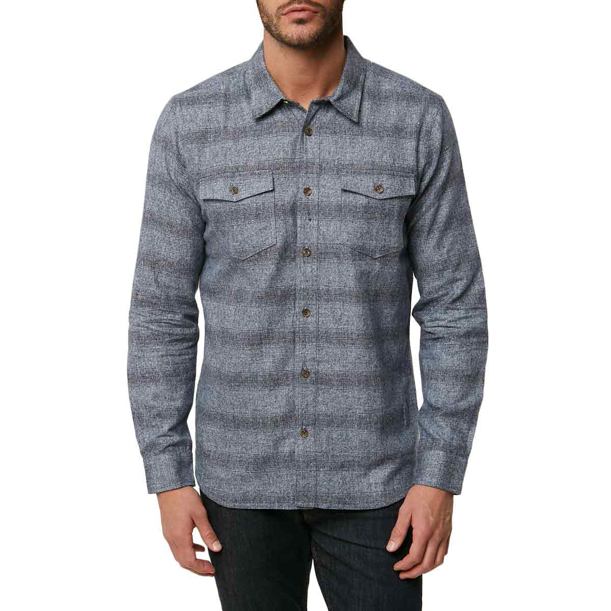 O'neill Guys' Covington Long-Sleeve Flannel Shirt - Blue, L