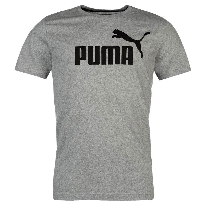 Puma Men's Essentials No. 1 Logo Short-Sleeve Tee - Black, XL