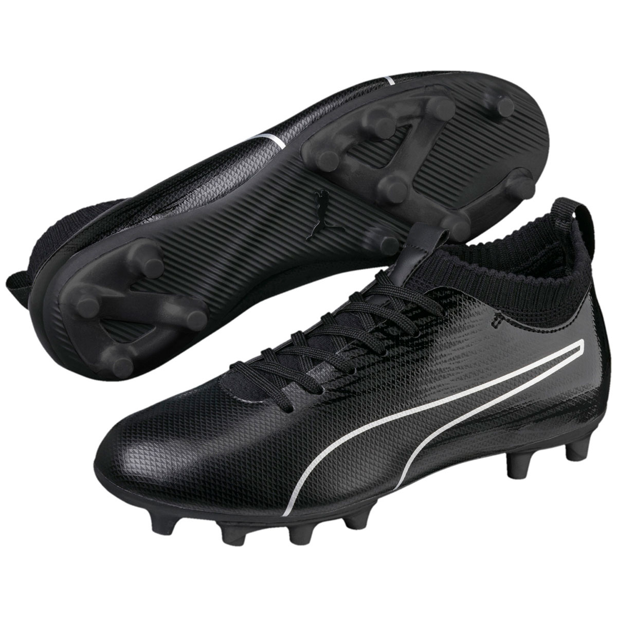 Puma Kids' Evoknit Ftb Ii Fg Jr Soccer Cleats - Black, 13