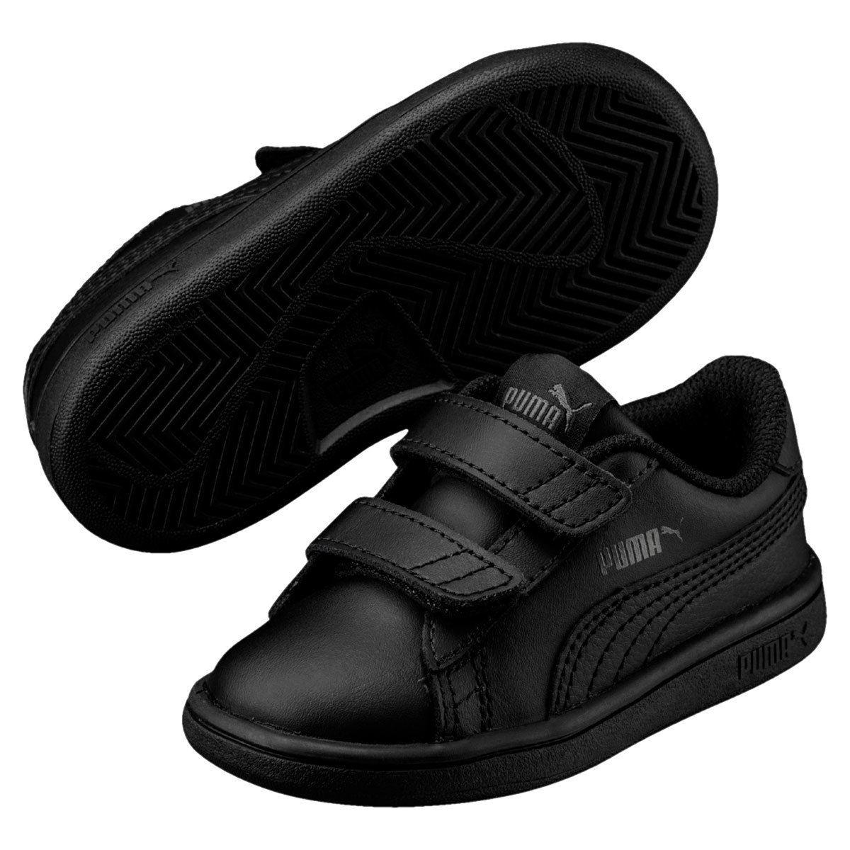 Puma Little Boys' Smash V2 L Ps Sneakers - Black, 1.5