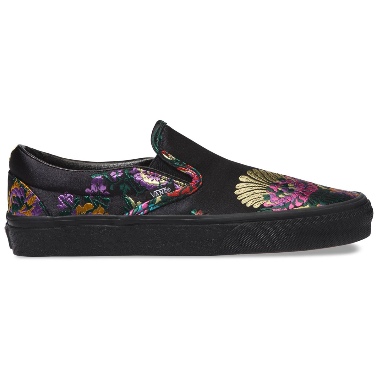 Vans Unisex Festival Satin Classic Slip-On Shoes - Black, 7