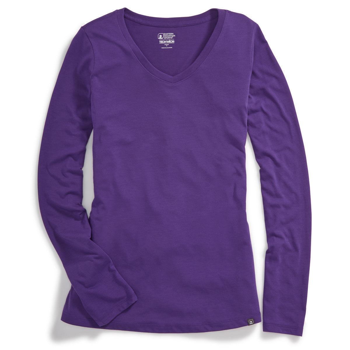 Emsa(R) Women's Techwicka(R) Vital V-Neck Long-Sleeve Tee - Purple, XS