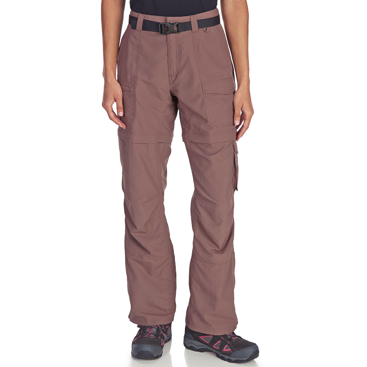 Ems Women's Camp Cargo Zip-Off Pants - Black, 6/S