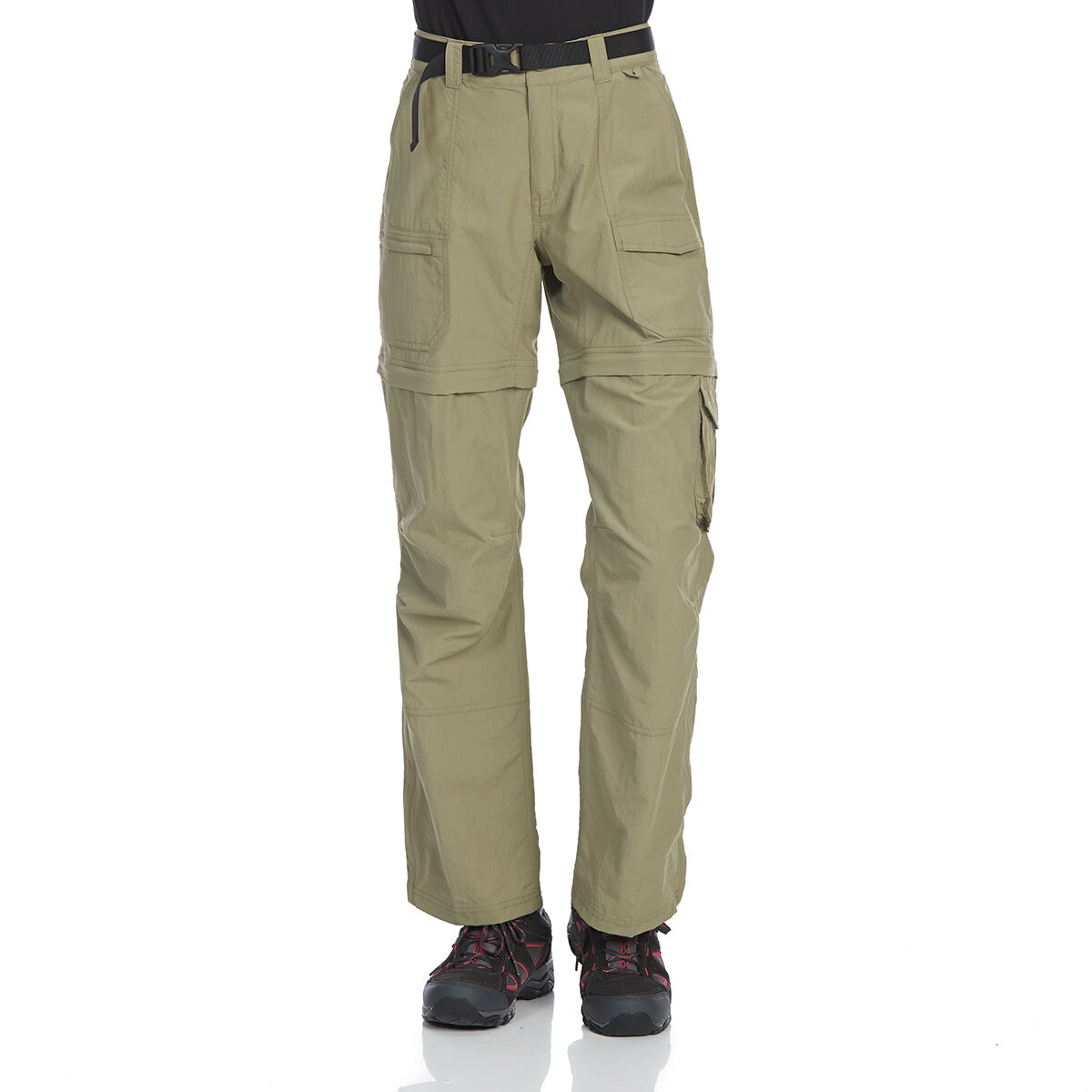 Ems Women's Camp Cargo Zip-Off Pants - Brown, 4/S