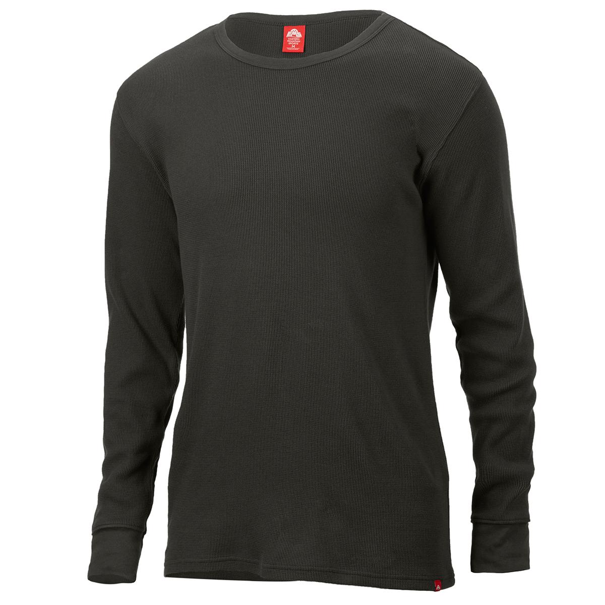 Ems Men's Rowan Waffle Crew Long-Sleeve Shirt - Green, XL