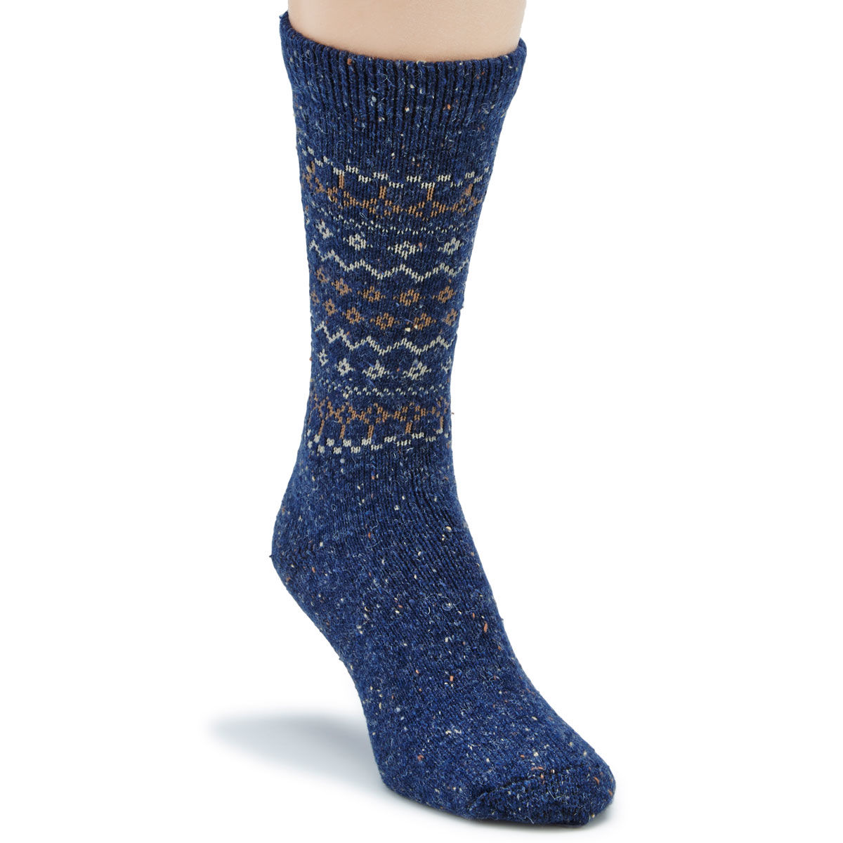 Carolina Hosiery Women's Retro Heavyweight Crew Socks - Blue, M