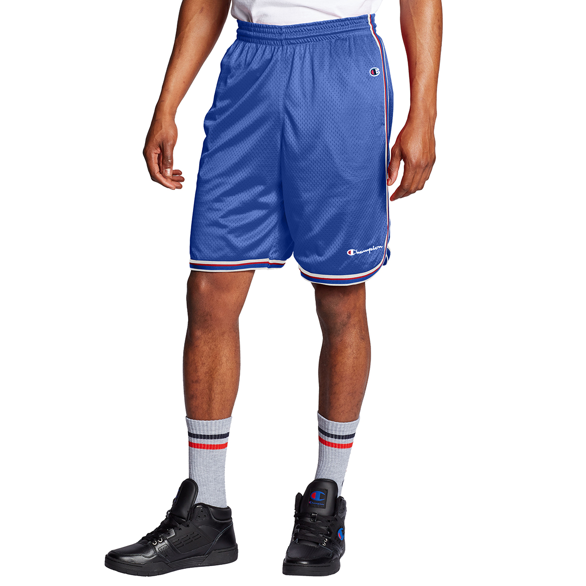 Champion Men's Core Basketball Shorts - Blue, L