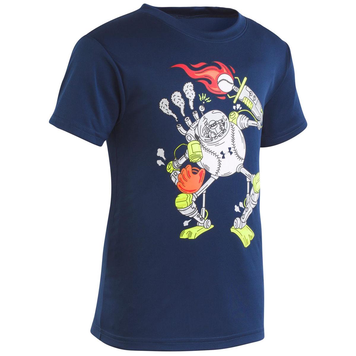 Under Armour Boys' Baseball Robot T-Shirt - Blue, 6