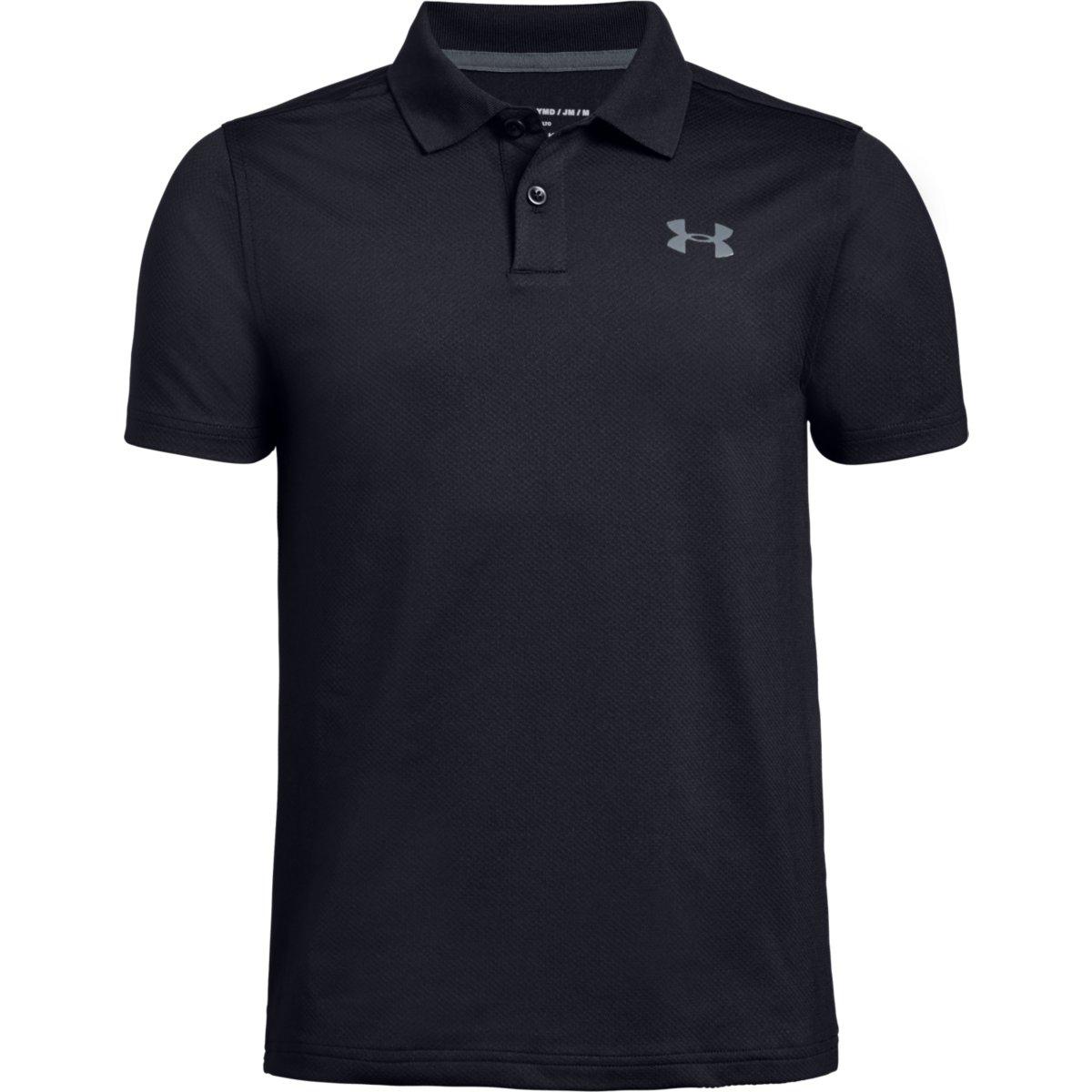 Under Armour Boys' Performance Short-Sleeve Polo Shirt - Black, XL