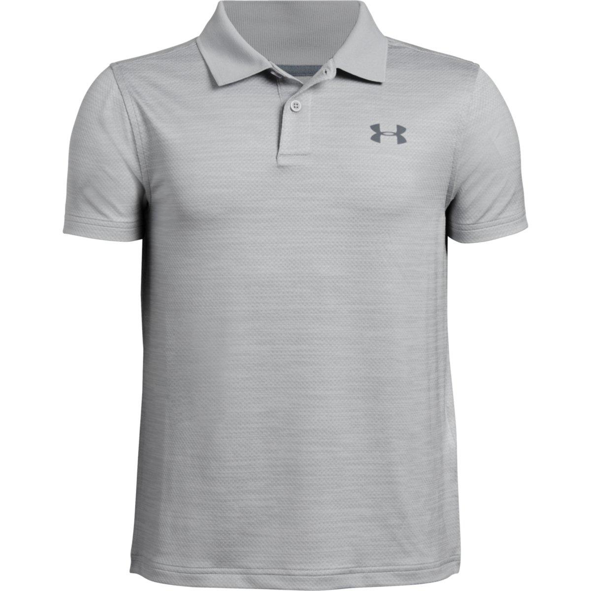 Under Armour Boys' Performance Short-Sleeve Polo Shirt - Black, M