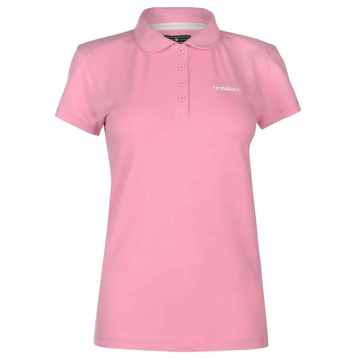 Donnay Women's Pique Polo - Red, 14