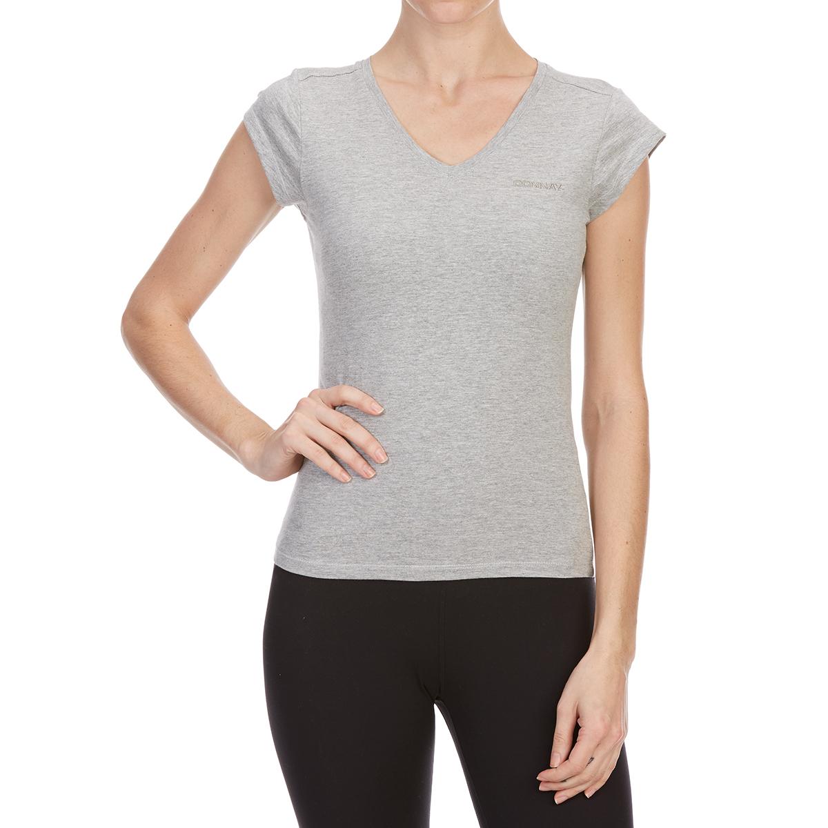 Donnay Women's V-Neck Short-Sleeve Tee - Black, 12