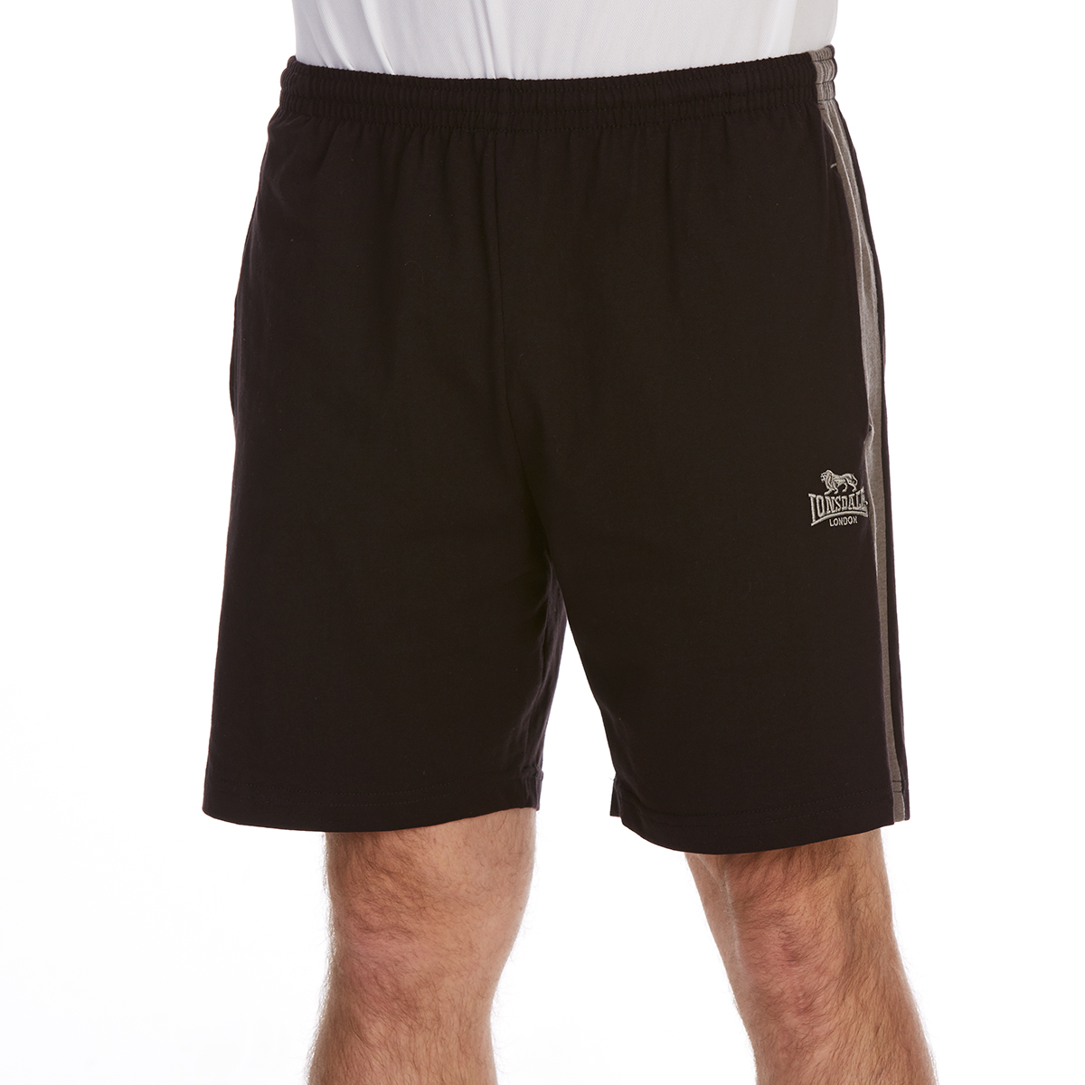 Lonsdale Men's Jersey Shorts - Black, XL