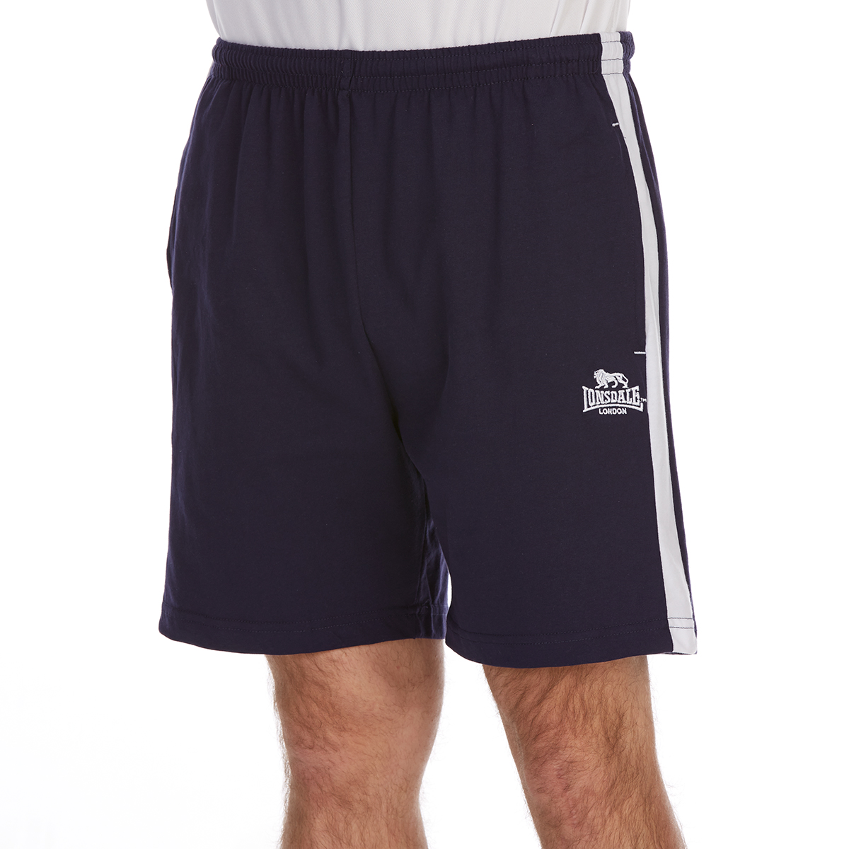 Lonsdale Men's Jersey Shorts - Blue, L