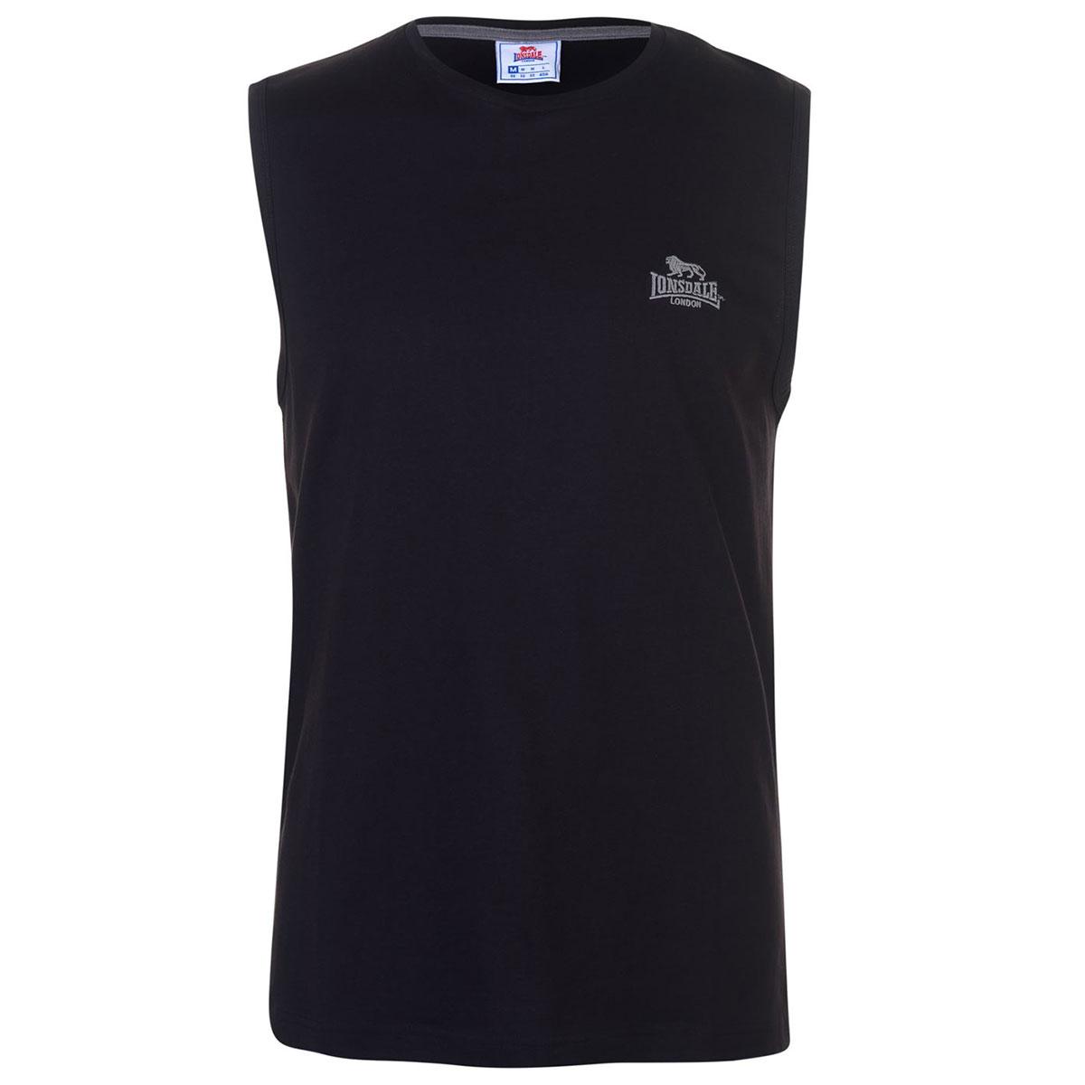 Lonsdale Men's Sleeveless Tee - Black, 4XL