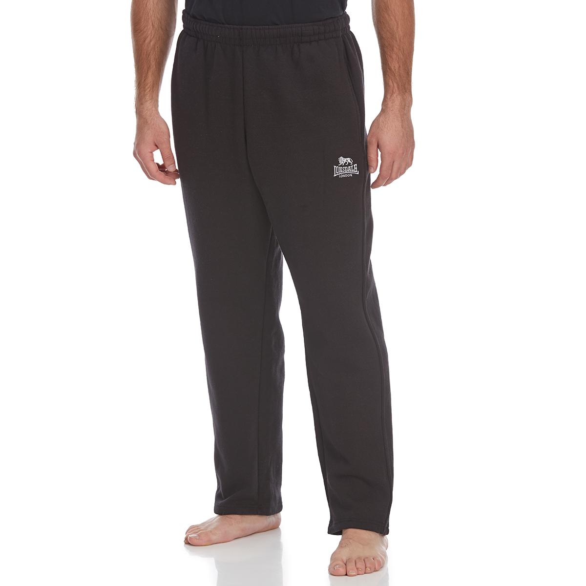 Lonsdale Men's Open-Hem Fleece Pants - Black, XL