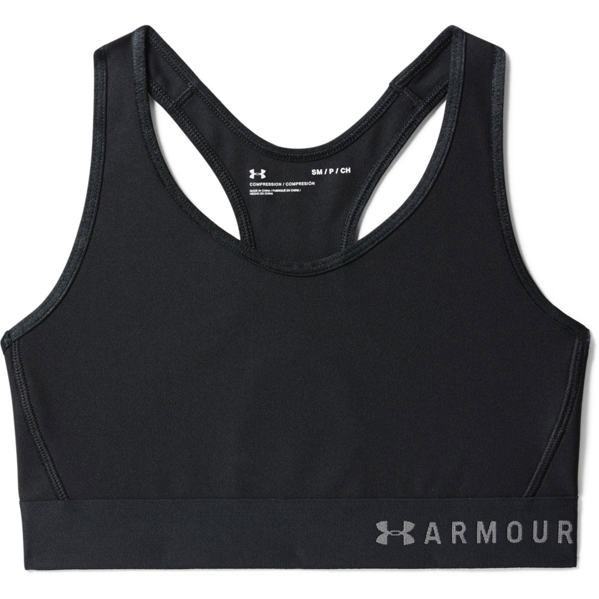 Under Armour Women's Armour Mid Sports Bra - Black, L