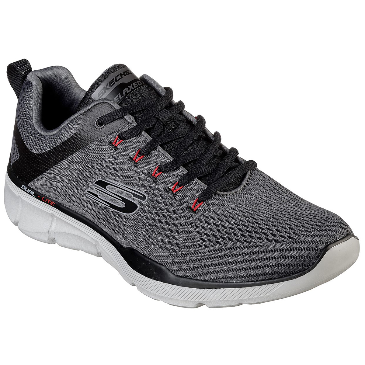 Skechers Men's Relaxed Fit: Equalizer 3.0 Sneakers, Extra Wide - Black, 10
