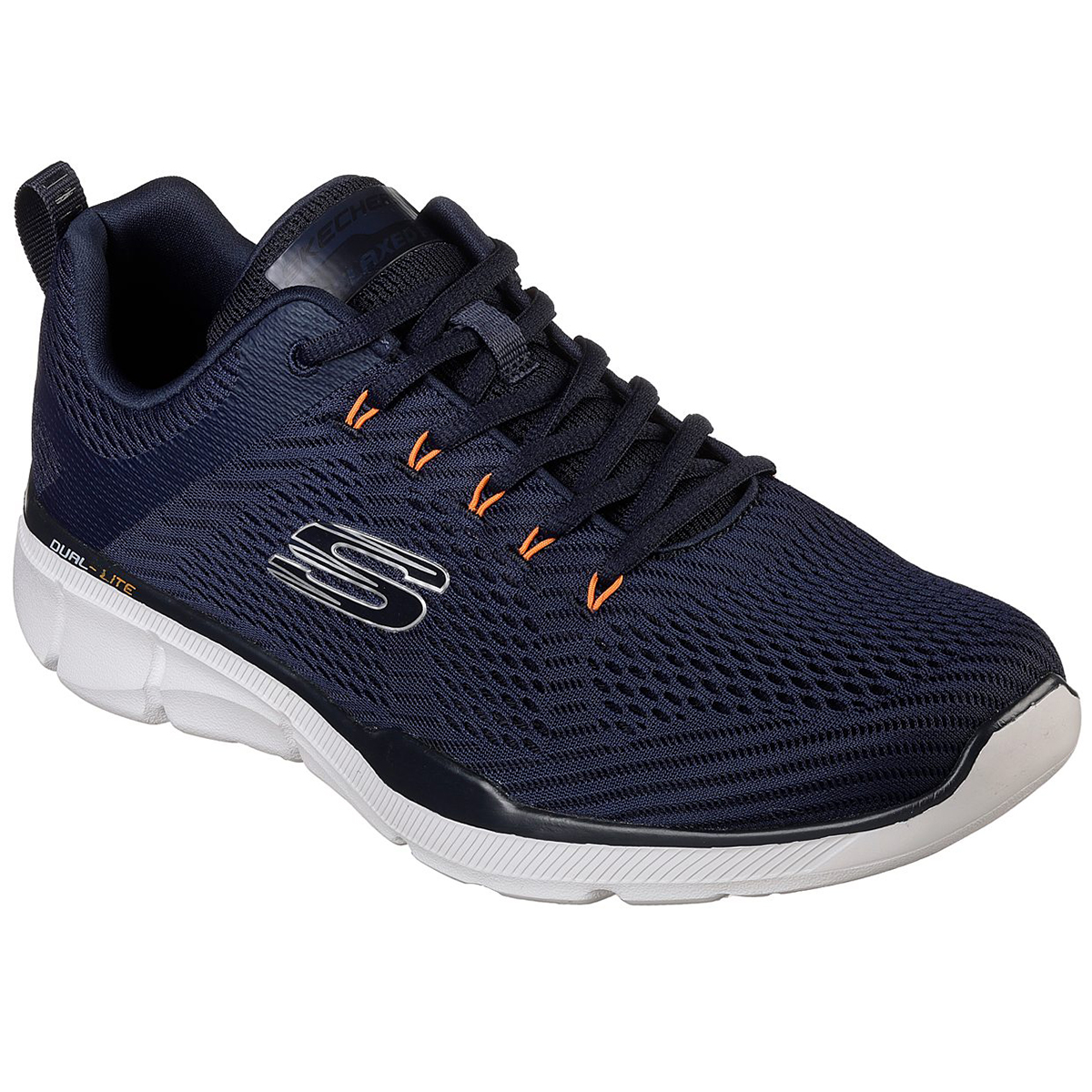Skechers Men's Relaxed Fit: Equalizer 3.0 Sneakers, Extra Wide - Blue, 12