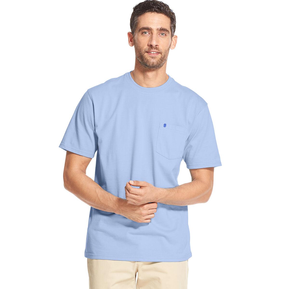 Izod Men's Saltwater Short-Sleeve Pocket Tee - Blue, XL