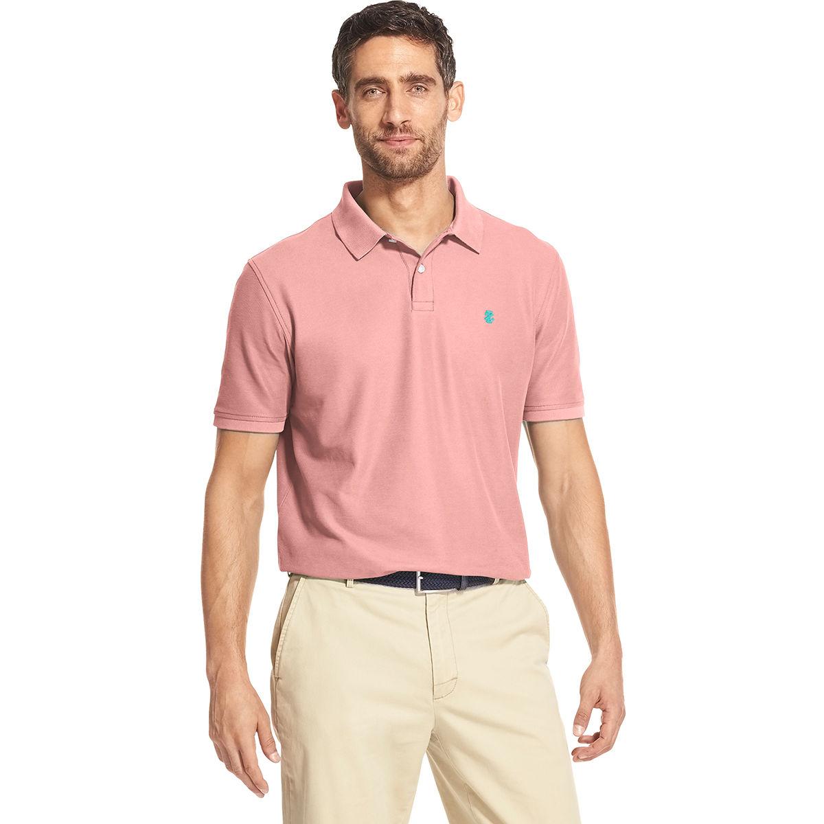 Izod Men's Advantage Short-Sleeve Polo Shirt - Orange, XL